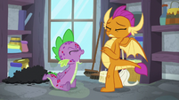 Spike yelling loudly at Smolder S8E11