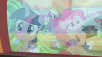 Twilight looks out window; Pinkie ponders S9E26