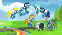 Wonderbolts reciting rule number one S6E7