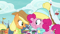 "Applejack and Pinkie ""no time to spare"" MLPBGE"