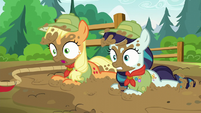 Applejack and Rara all muddy S5E24