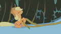 Applejack riding Rainbow Dash S01E09.png