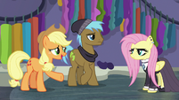 Applejack trying to talk to Fluttershy S8E4