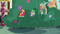 Big Mac notices Spike and Discord in the bushes S8E10.png