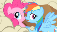 Buffalo start to surround Pinkie and Rainbow Dash S1E21