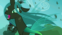 Chrysalis flies to attack S5E26