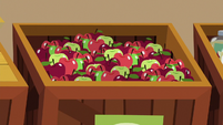 Crate filled with apples S9E26