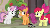 Cutie Mark Crusaders feel sorry for Big McIntosh S7E8