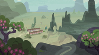 Distance view of Our Town S6E25