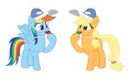 FANMADE Coach Applejack and Rainbow Dash