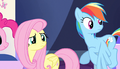 Fluttershy and Rainbow look at Spike S5E1.png