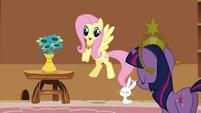Fluttershy putting the vase on the table S3E10