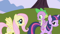 Fluttershy tagging along S1E01