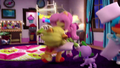 Fluttershy tossing her pillow EGM4.png