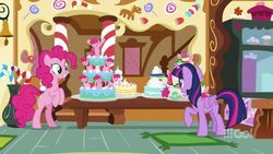 Pinkie Pie presents a wide variety of cakes MLPCS2