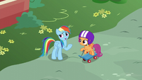 Rainbow --one of the real Wonderbolts can't fly-- S6E7