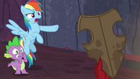 "Rainbow Dash ""that's an ancient pony artifact!"" S7E25"