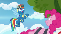 "Rainbow Dash ""the pie was delicious!"" S7E23"