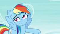 Rainbow pointing her hoof S4E21