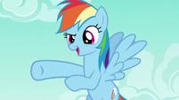 Rainbow says --gotcha!-- to Rarity S6E15