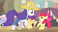 Rarity and Apple Bloom -that just ain't so- S4E13