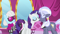 Rarity and Hoity Toity blow air kisses at each other S7E9.png