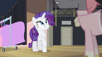 Rarity being cut off mid-sentence S4E08