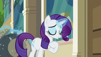 Rarity sighing with relief S8E4