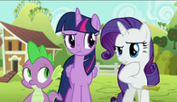 S06E10 Rarity rozmawia z Twilight