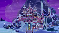 Snowy School of Friendship at nighttime BGES3