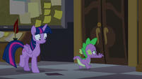 Spike races to the tower doors S5E10