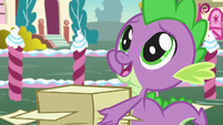 Spike with awestruck eyes -so generous- S7E9