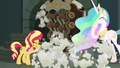 Sunset and Celestia cough through the smoke EGFF.png