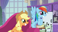 AJ and Rainbow awaiting the announcement S8E9