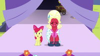 Apple Bloom and Orchard Blossom begin singing S5E17