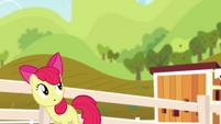 Apple Bloom watching Pinkie twirl S4E09