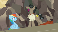 Caballeron laughs maniacally at Rainbow Dash S7E18