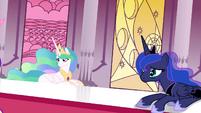 Celestia and Luna looking at Twilight S4E26