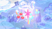 Cutie marks floating over Ponyville S5E1