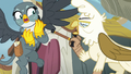 Elderly griffon shaking her cane at Gabby S6E19.png