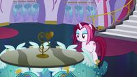 Fashionable Pony looking at Princess Dresses S5E14