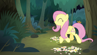 Fluttershy returns to the animal clearing S8E13