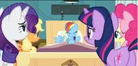 Ponies examine Rainbow Dash S2E16