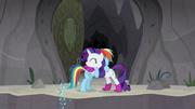Rainbow Dash and Rarity hugging S8E17
