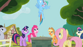 Rainbow Dash emerges from Well S2E8.png