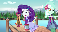 "Rarity ""where are Twilight and Sunset?"" EG4"
