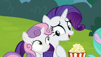 Rarity -you love these puppet shows- S7E6