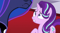Starlight frightened by Princess Luna's scowl S7E10