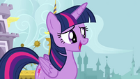 Twilight talking to her friends S4E1