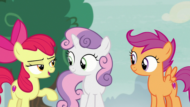 File:Apple Bloom making fun of Spike S7E8.png